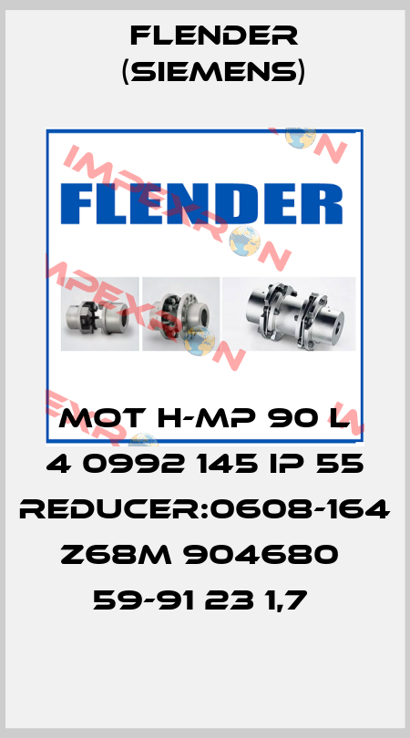 Flender (Siemens)-MOT H-MP 90 L 4 0992 145 IP 55 Reducer:0608-164 Z68M 904680  59-91 23 1,7  price